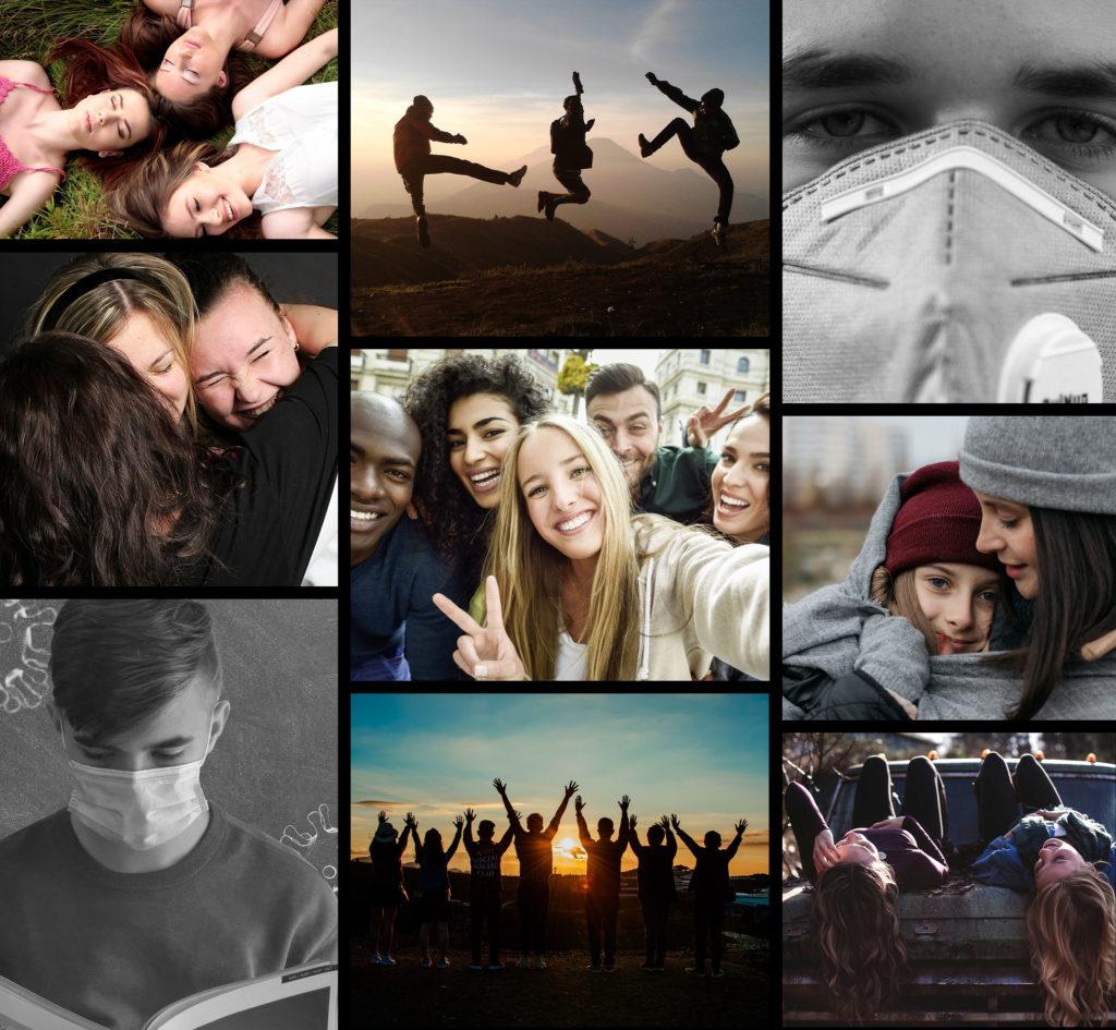 Collage - Befreit die Kinder und Jugendlichen aus den Lockdowns. Covid 2021