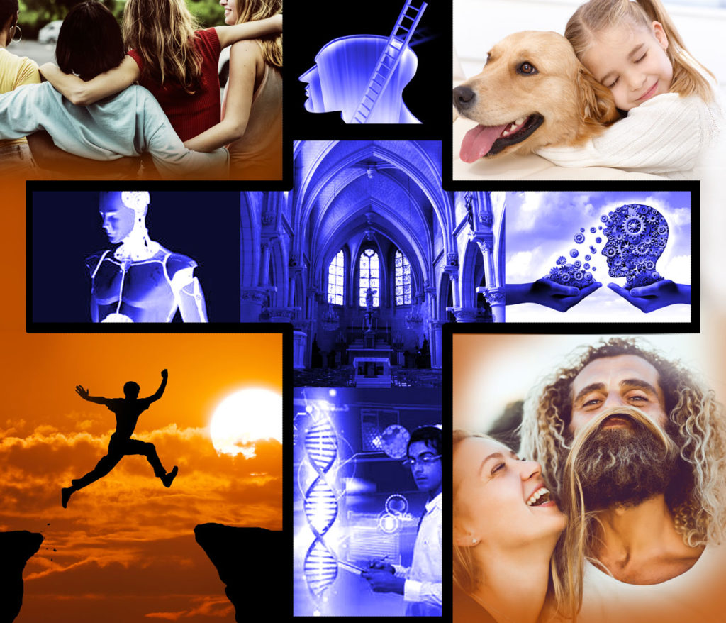 Collage - Corona, Bill Gates und die neue Religion der Wissenschaft - Artikel von Gerald Ehegartner